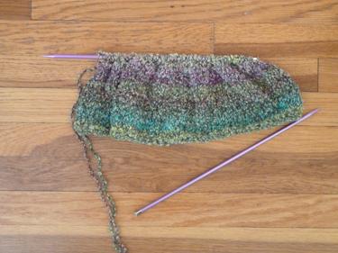 a-knitting